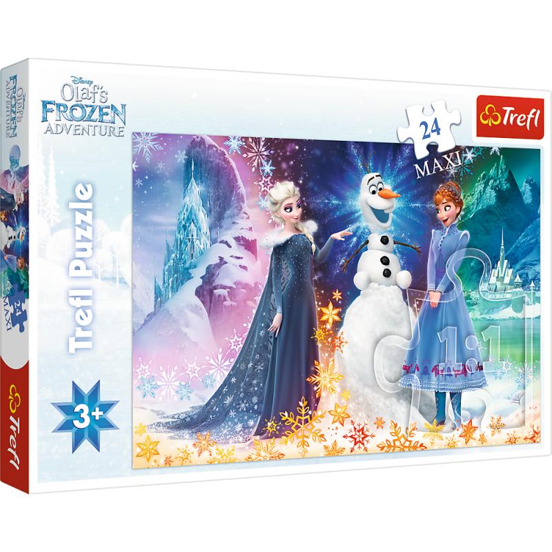 Puzzle La Reine Des Neiges - 24 Pièces Maxi - A La Porte Bleue tout Jeux Puzzle La Reine Des Neiges