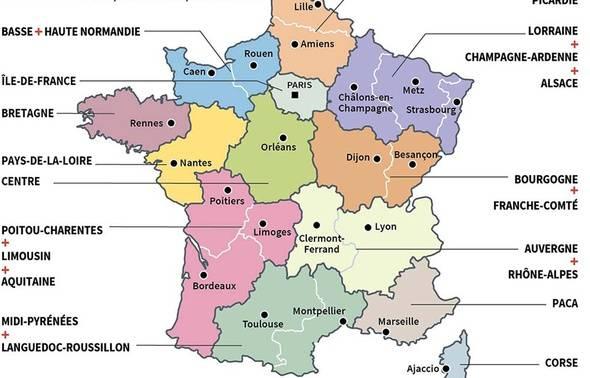 Quiz. Connaissez-Vous Le Nom Des Nouvelles Régions De France? destiné Quiz Régions De France