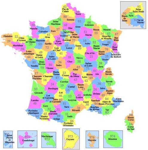 Quiz Départements Français | Géographie avec Numero Departement Outre Mer Francais