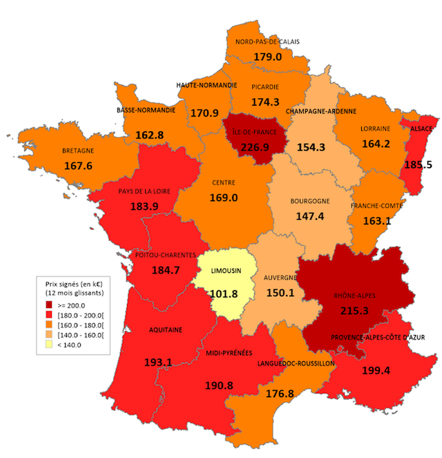 Région Par Région Combien Coûte Vraiment Un Logement avec Combien De Region En France