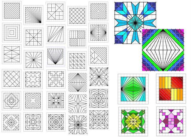 Remue Méninge | Dessin Quadrillage, Dessin Quadrillé destiné Figures Géométriques Ce1