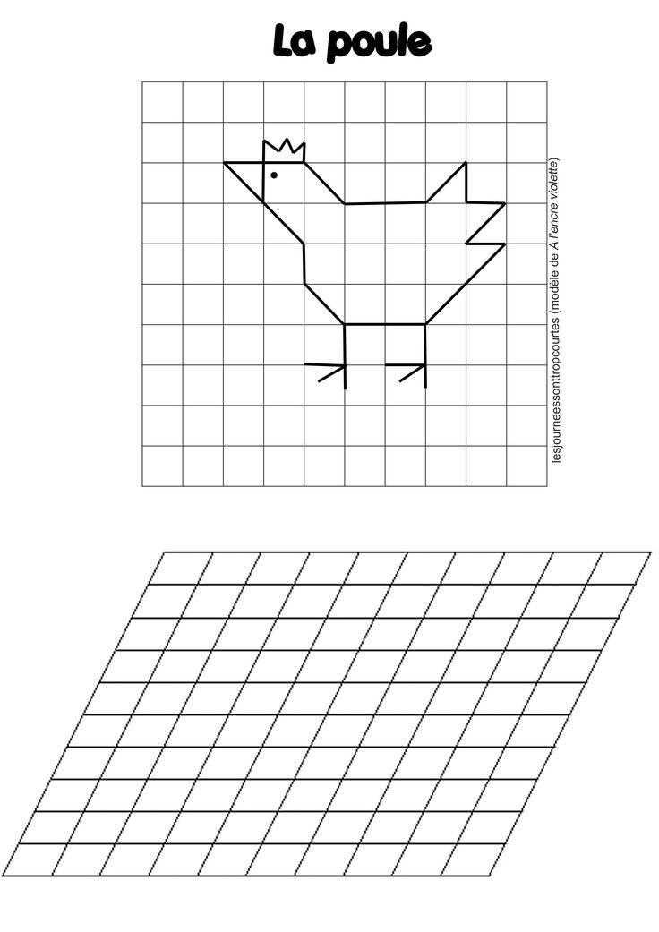 Reproduction De Figures | Géométrie, Reproduction Sur dedans Reproduire Un Dessin Sur Quadrillage