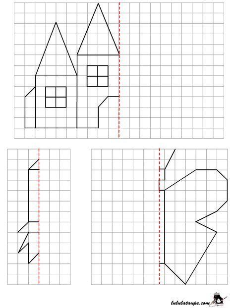 Reproduire Un Dessin Par Symétrie Axiale Sur Quadrillage destiné Reproduire Un Dessin Sur Quadrillage