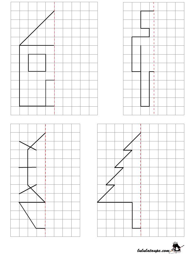 Reproduire Un Dessin Sur Quadrillage | Géométrie Ce2 serapportantà Reproduction Sur Quadrillage Ce2