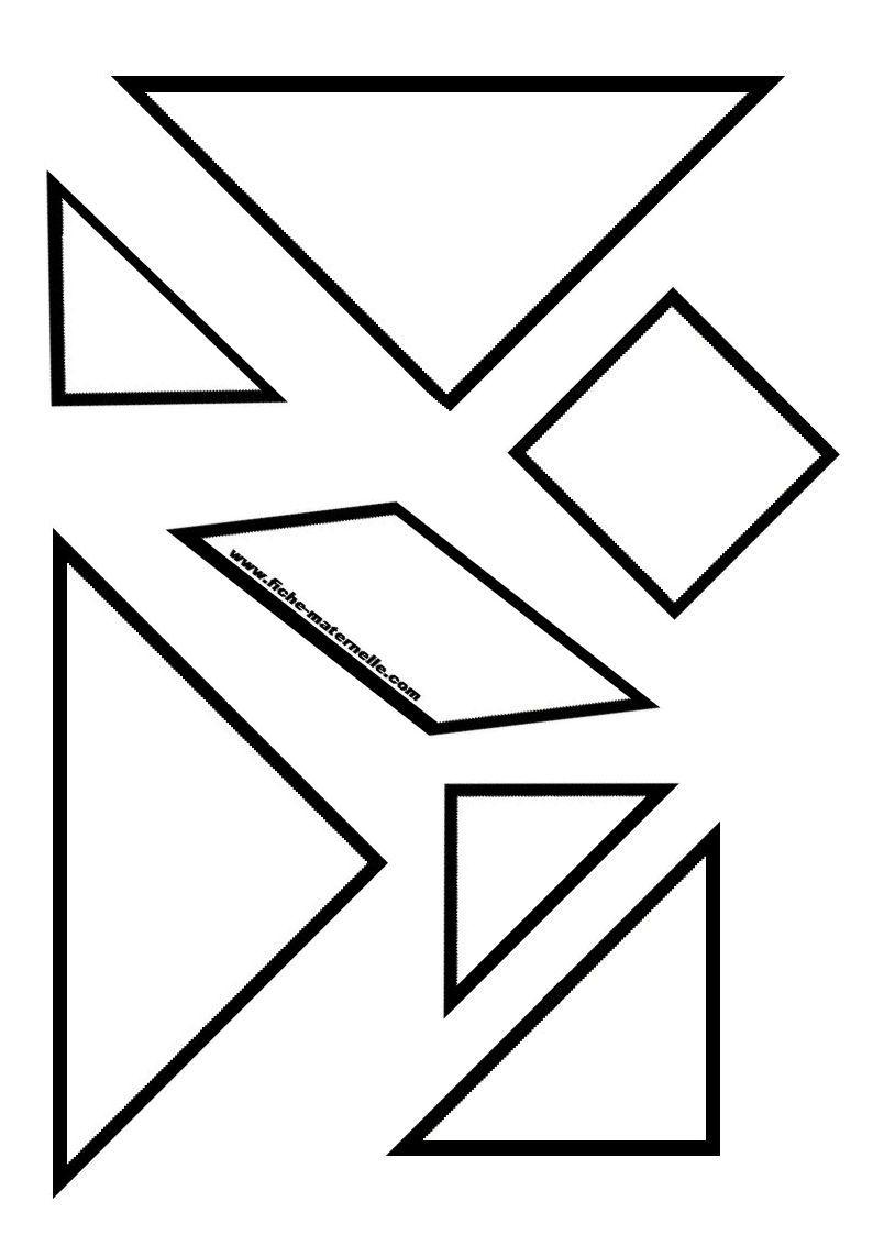 Ressources Pédagogiques : Pièces Pour Le Tangram Du Carré dedans Tangram À Imprimer Pdf