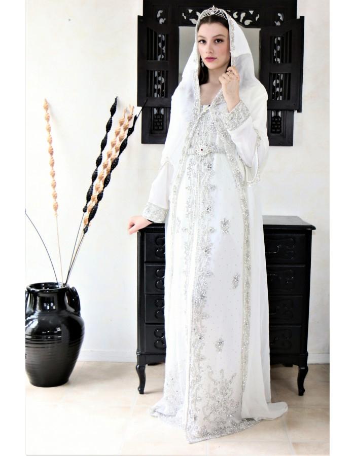 Robe Orientale Blanche De Mariage - Aniiqa avec Robe Mariage Oriental Invite