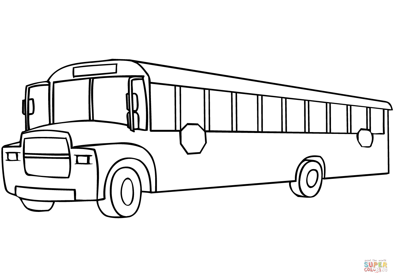 School Bus Coloring Page | Free Printable Coloring Pages à Dessin Bus