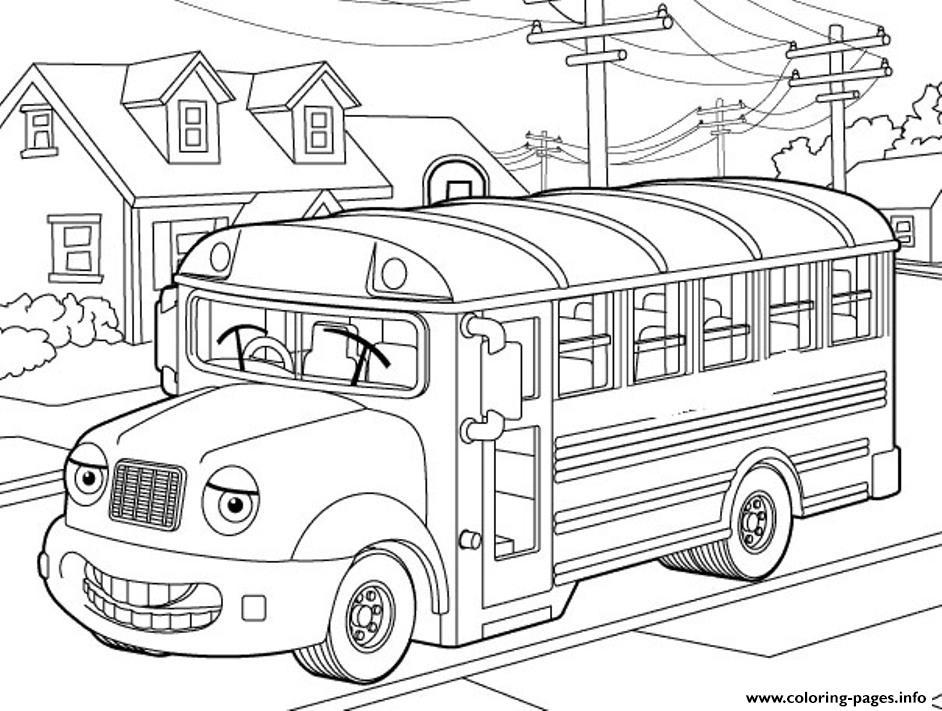 School Bus For Kids Coloring Pages Printable tout Dessin Bus