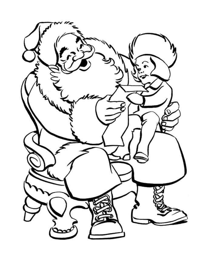 Sélection De Dessins De Coloriage Père Noël À Imprimer Sur destiné Coloriage De Pere Noel A Imprimer Gratuitement