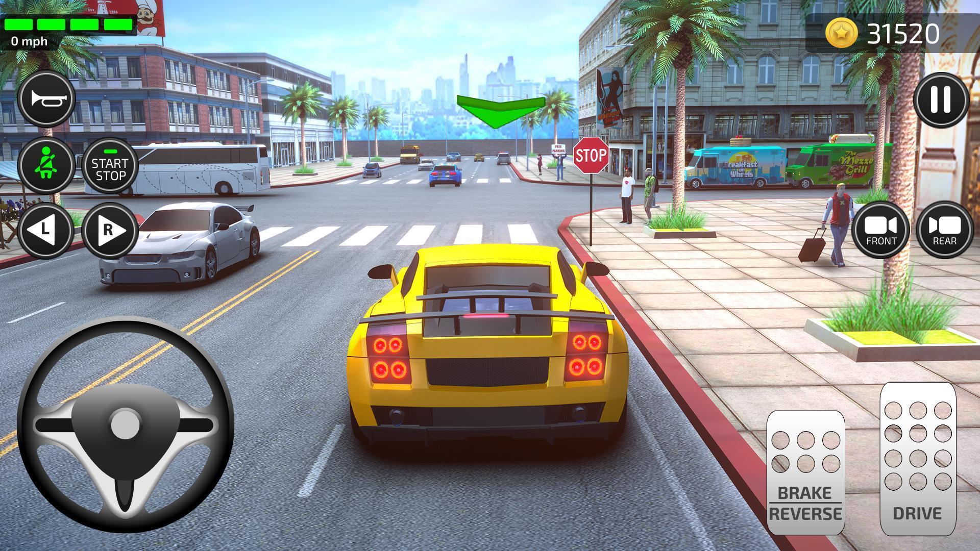Simulateur D'Auto École: Jeux De Voiture Pour Android destiné Jeux De Voiture De Cours