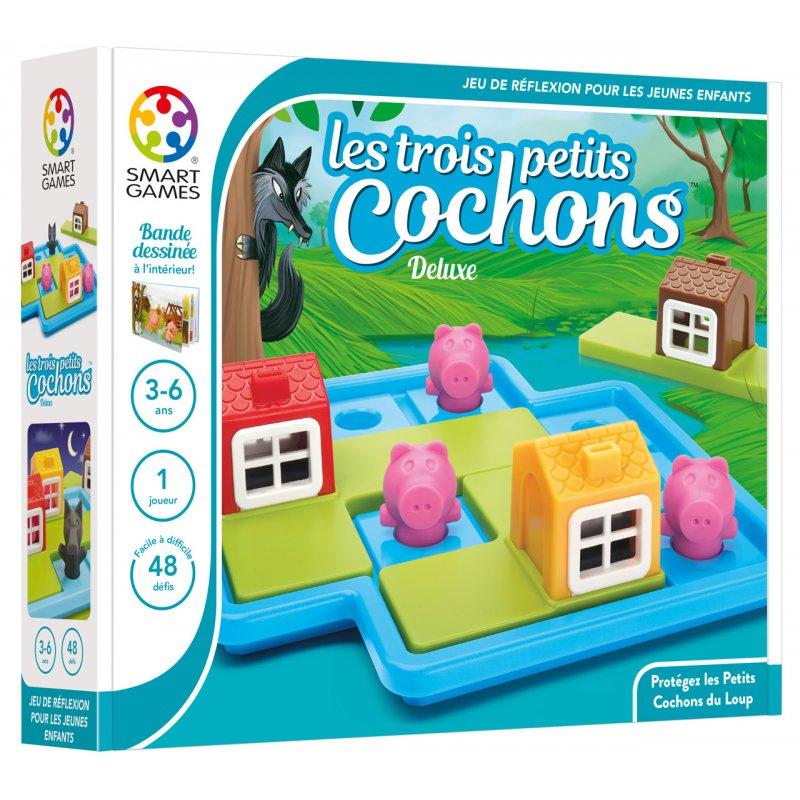 Smart Games Les Trois Petits Cochons Deluxe (48 Defis à Jeux De 6 Ans Gratuit
