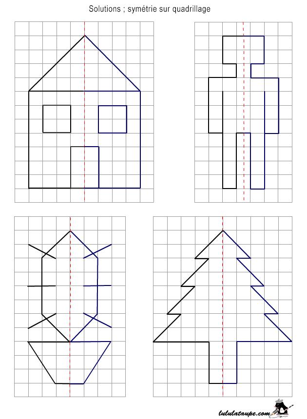 Solutions, Jeux Ludo-Éducatifs, 7 Ans Et Plus - Lulu La serapportantà Symétrie Quadrillage