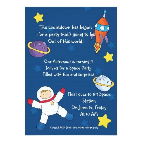 Space Out Birthday Invitations   Zazzle En 2020 à Invitation Anniversaire Theme Bonbon