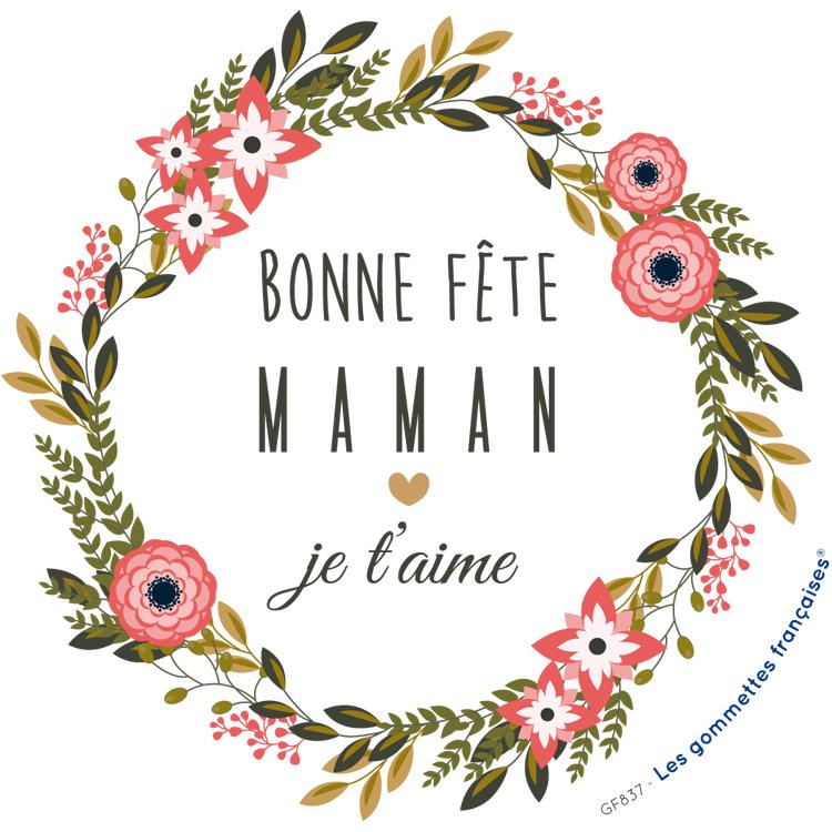 Stickers Bonne Fête Maman, Je T'Aime | Les Gommettes à Fete Maman