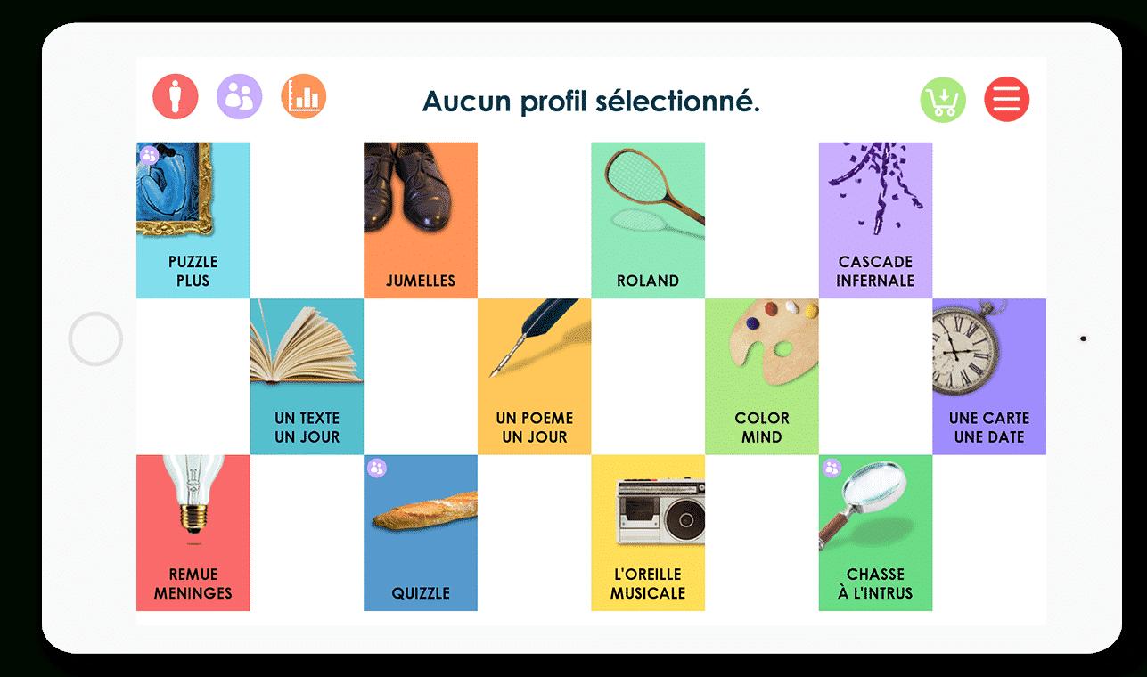 Stim'Art : Des Jeux De Mémoire Sur Tablette Et Smartphone pour Jeux De Concentration Et De Memoire