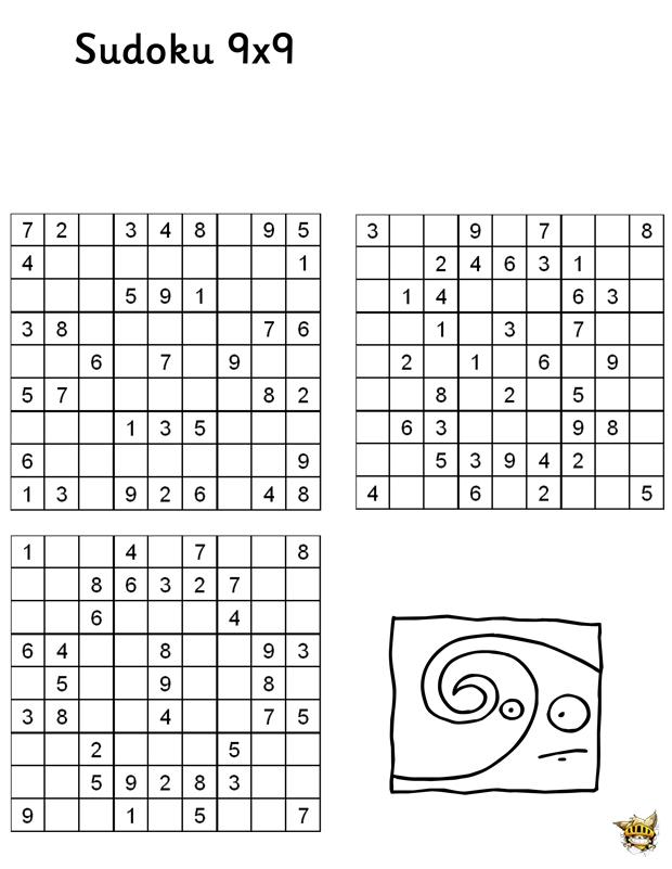 Sudoku 9X9 N°2 Pour Enfant À Imprimer serapportantà Sudoku Gratuit Enfant