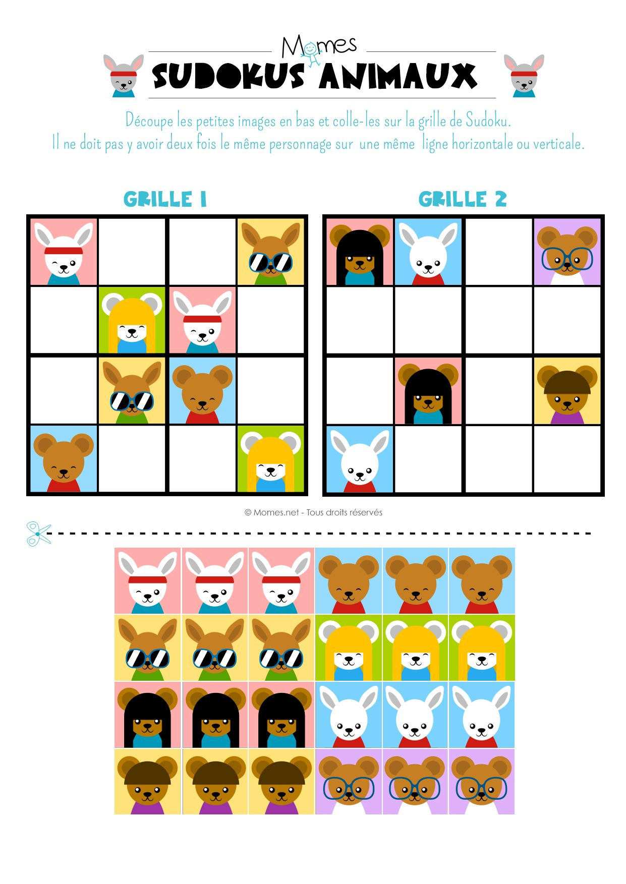 Sudoku Animaux   Sudoku Enfant, Jeux A Imprimer, Sudoku à Sudoku Gs