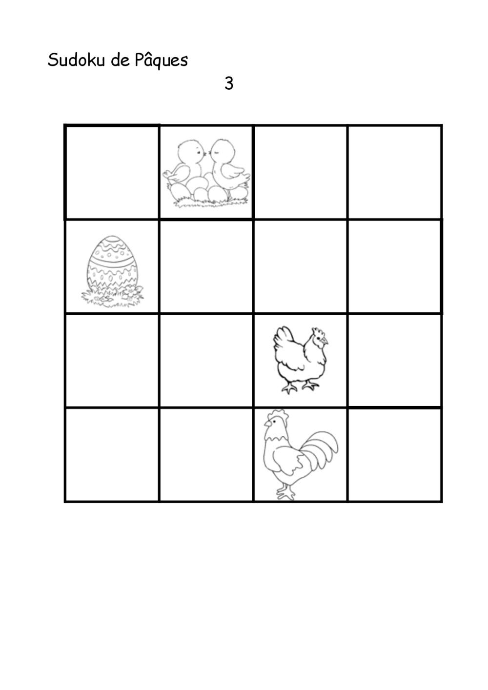 Sudoku De Pâques   Bdrp encequiconcerne Sudoku Gs