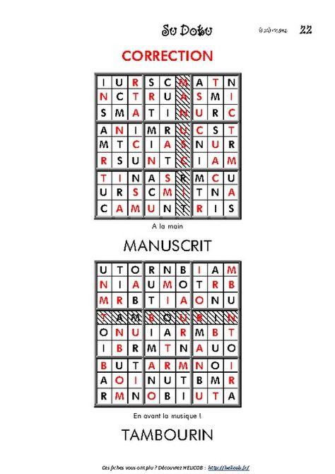 Sudoku Des Lettres - Cm1 - Cm2 - Vocabulaire Ludique tout Sudoku Cm2