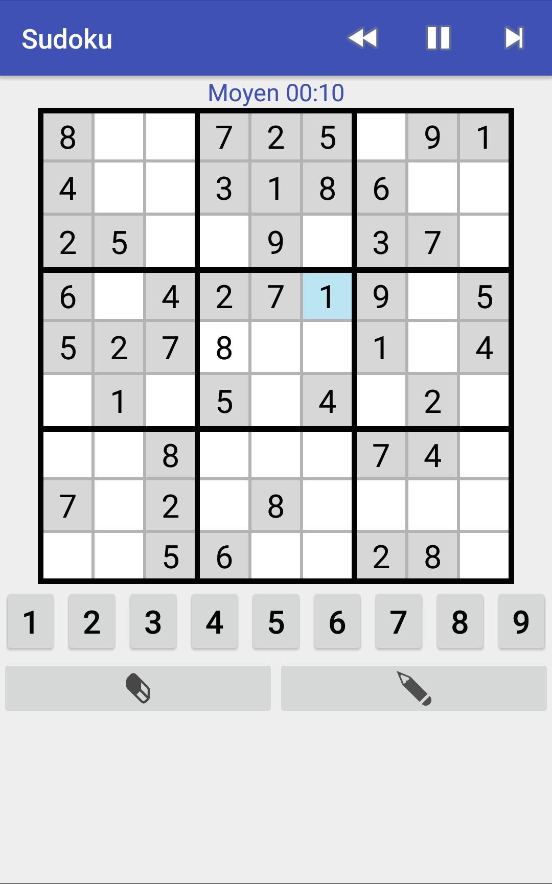 Sudoku Moyen Gratuit encequiconcerne Jeu Sudoku En Ligne