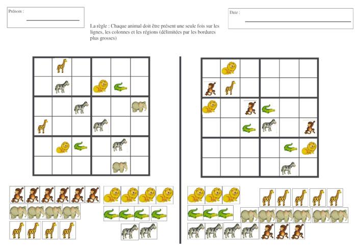 Sudoku Pour Gs - Explorer Le Monde - Forums Enseignants Du tout Sudoku Animaux Maternelle