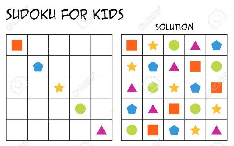 Sudoku Pour Les Enfants Avec Solution, Puzzle Pour Les intérieur Puzzle Gratuit Facile