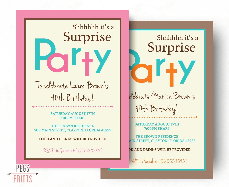Surprise Birthday Party Invitation Wording - Party tout Invitation Fête Surprise