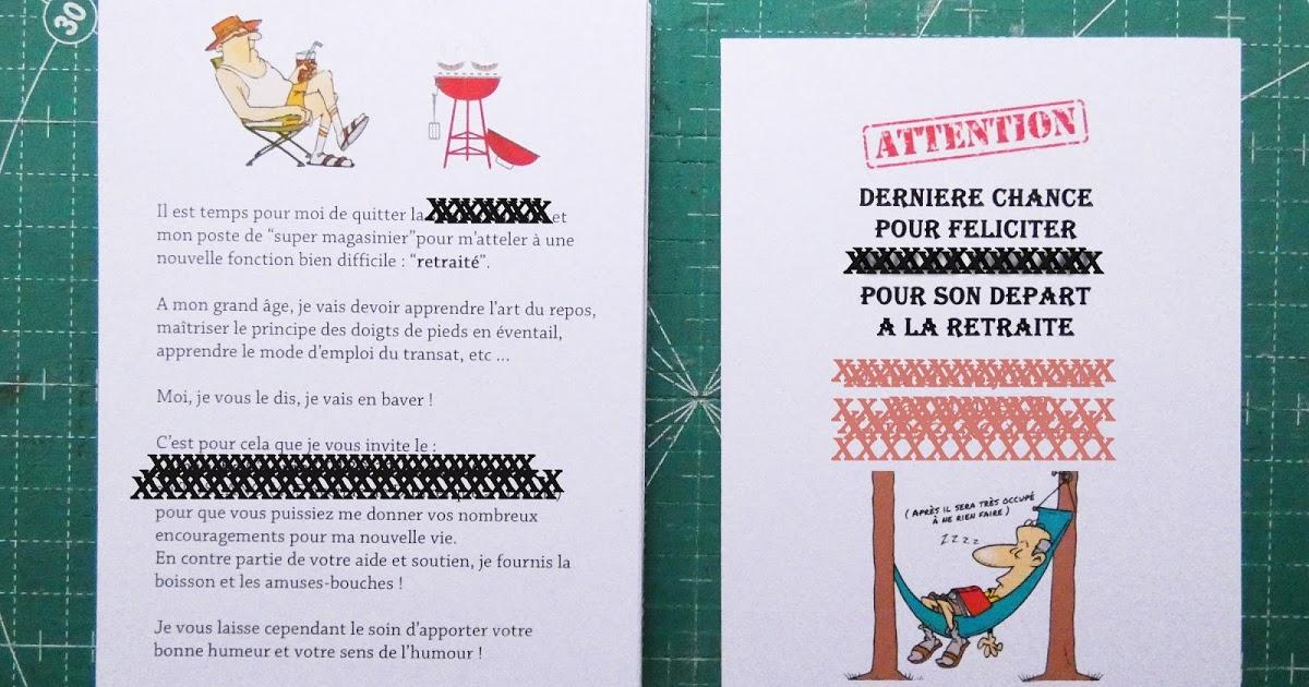 Sylviane Scrap: Invitation Départ En Retraite serapportantà Invitation Pour La Retraite