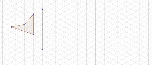 Symétrie Axiale Sur Quadrillage Triangulaire - Geogebra tout Symétrie Quadrillage