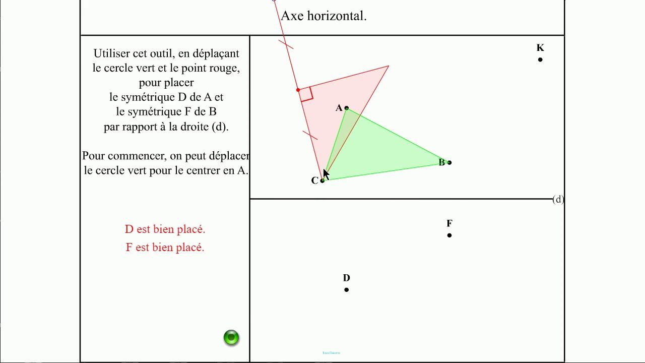 Symétrie Par Rapport À Une Droite. Exercices Sans encequiconcerne Symétrie Quadrillage