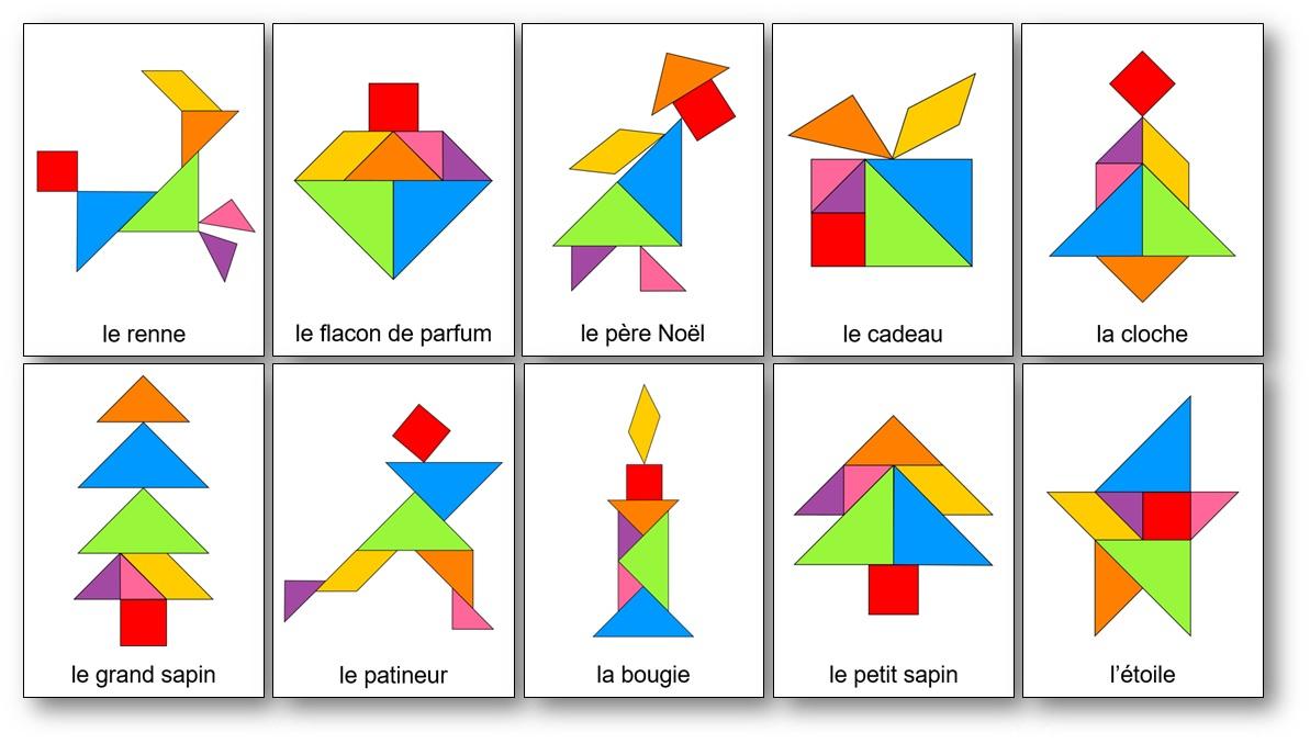 Tangram De Noël : 14 Modèles À Imprimer - Tangram De Noël concernant Tangram Carré