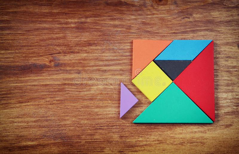 Tangram Photo Stock. Image Du Chat, Mathématiques, Enfant pour Tangram Carré