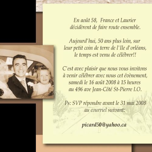 Texte 50E Anniversaire De Mariage - Elevagequalitetouraine tout Texte Pour Invitation 50 Ans De Mariage