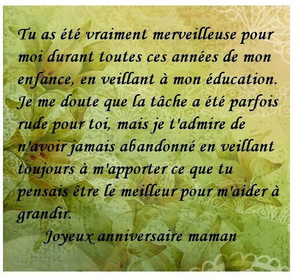 Texte Carte Anniversaire Maman - Elevagequalitetouraine à Lettre Maman Anniversaire