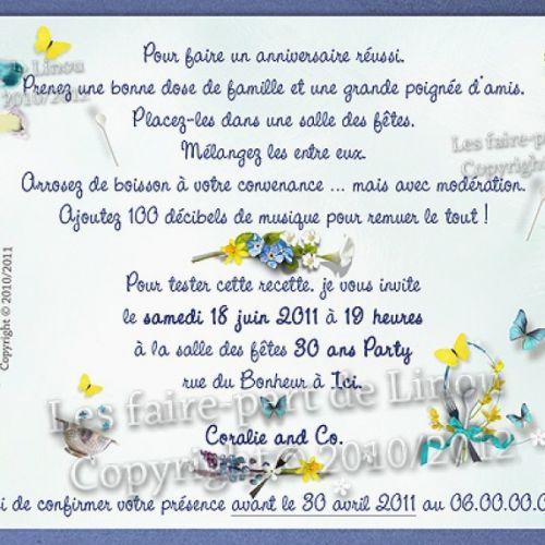 Texte D'Invitation Anniversaire 30 Ans Humoristique tout Texte Invitation Anniversaire 18 Ans Humoristique