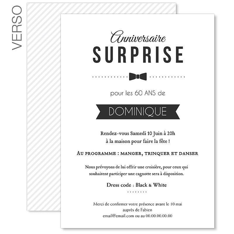 Texte D'Invitation Anniversaire Surprise 60 Ans New Texte concernant Texte D Invitation Anniversaire 70 Ans
