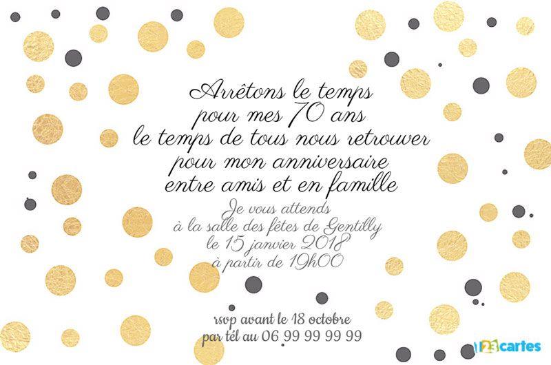 Texte Pour Carte D Invitation Anniversaire 70 Ans encequiconcerne Texte D Invitation Anniversaire 70 Ans