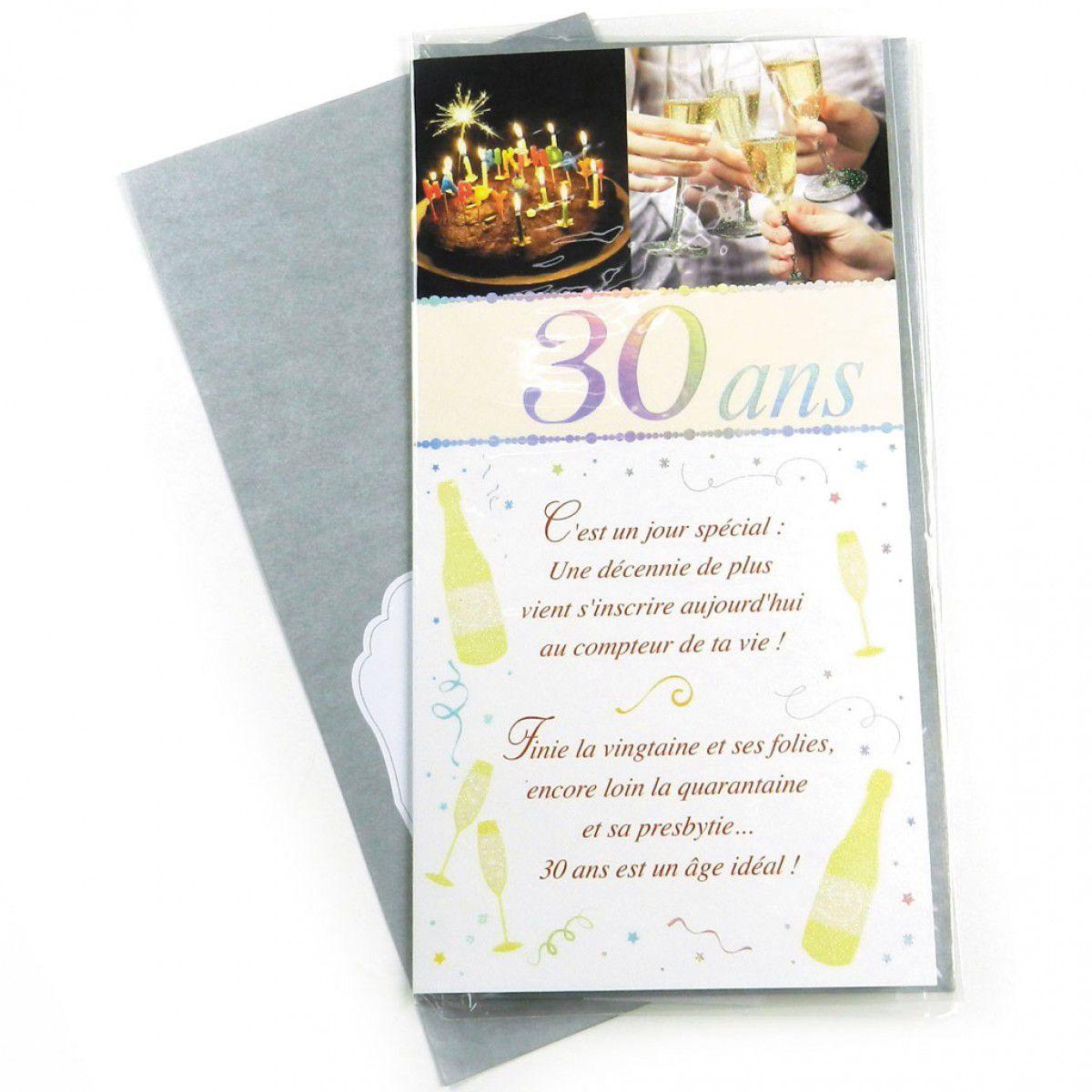 Texte Pour Carte D'Anniversaire Homme Beautiful Carte destiné Idee Invitation 30 Ans