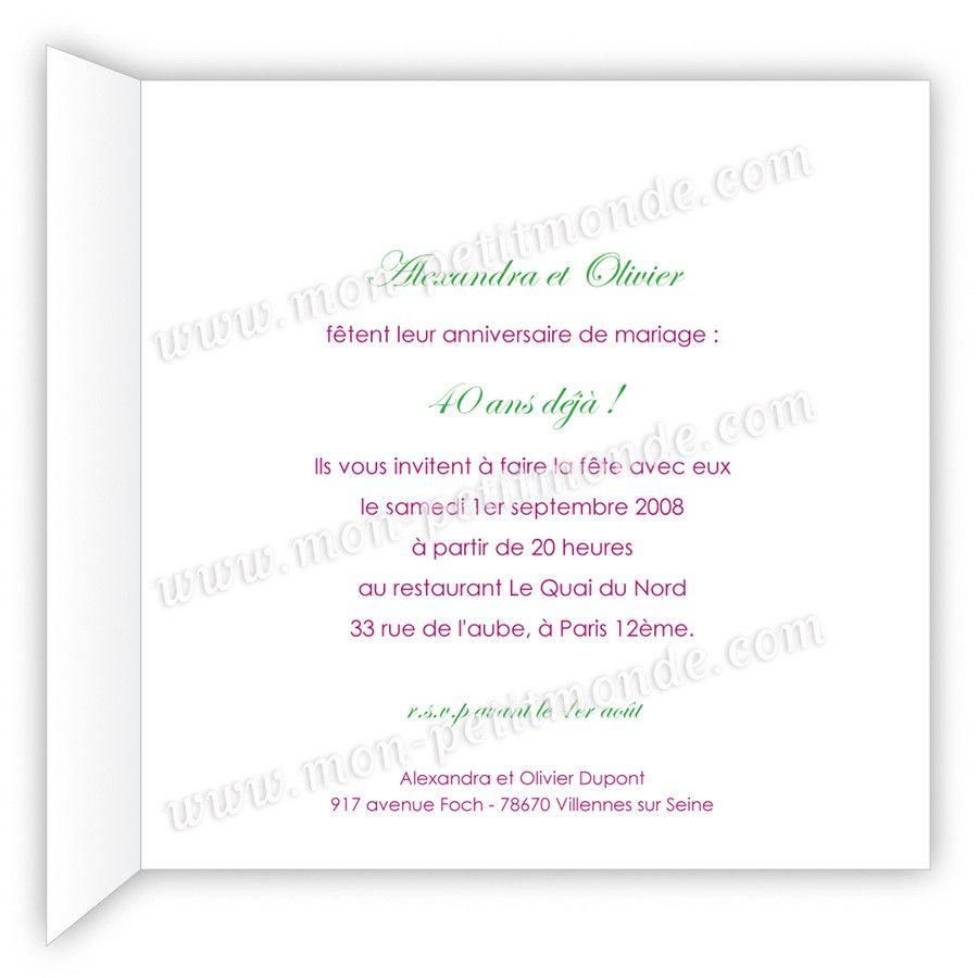 Texte Pour Invitation Anniversaire 40 Ans intérieur Texte Pour Invitation Anniversaire 3 Ans