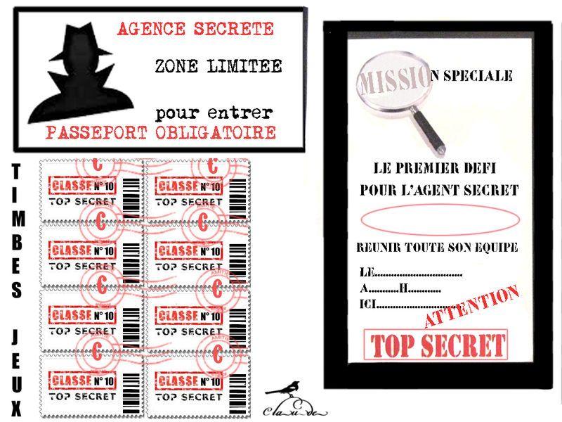 """Theme """"Des Agents Tres Tres Secrets """" - 1 Et 2 Et 3 destiné Invitation Anniversaire Agent Secret"""