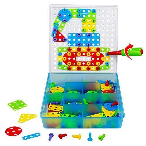 Tonze Jeu De Construction Puzzle Enfant Jouet Fille Garcon à Jeux Pour Garcon De 3 Ans