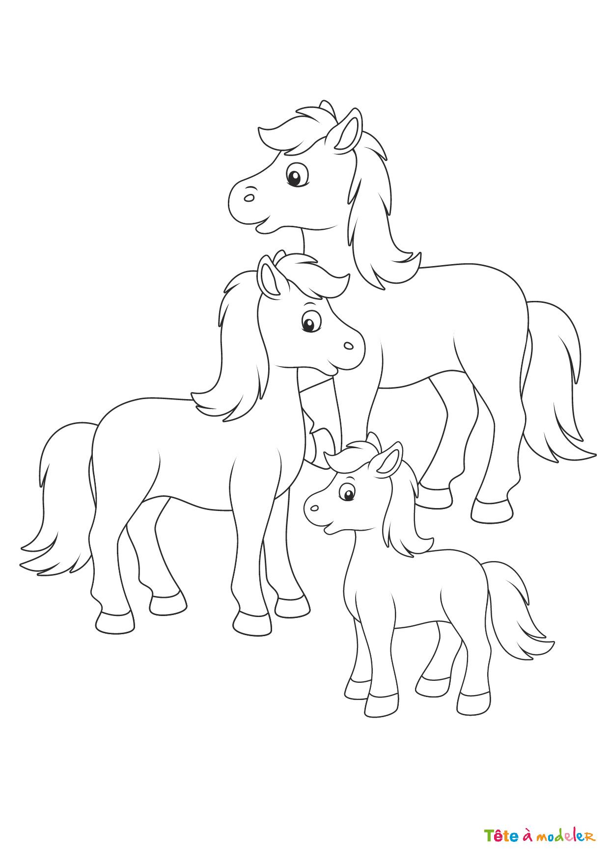 Top28+ Coloriage Poney Dessin - Lesgenissesdanslmais à Poney A Imprimer