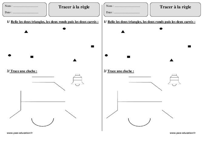 Tracer À La Règle - Ce1 - Exercices Corrigés - Géométrie serapportantà Tracer À La Règle Gs