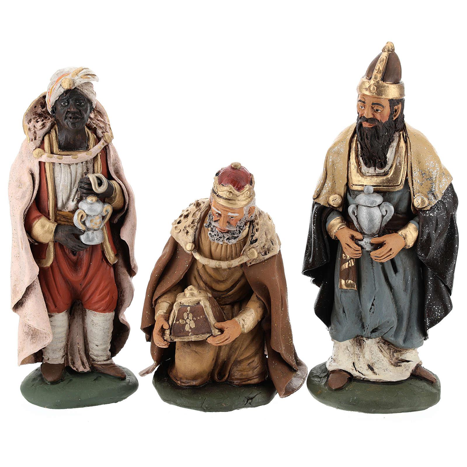 Trois Rois Mages Terre Cuite   Vente En Ligne Sur Holyart concernant Les Trois Mages