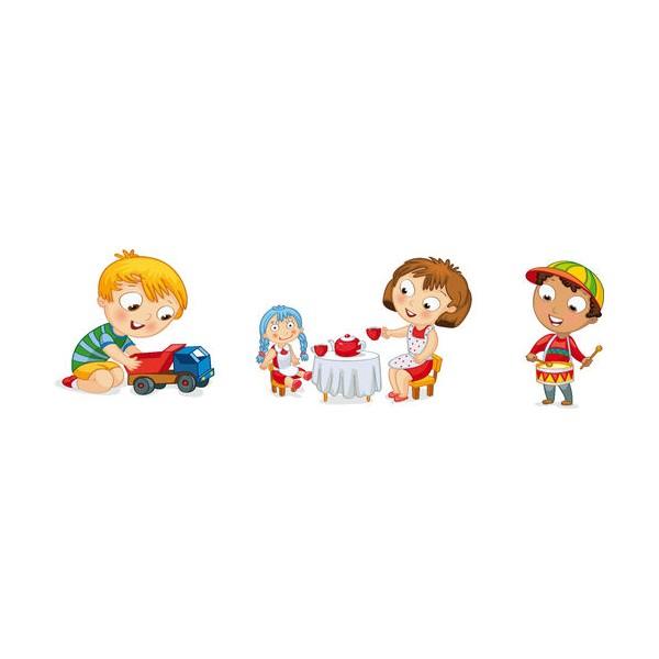 Trois Sticker Jeux D'Enfant Camion Dinette - Stickersmania.fr destiné Jeux Enfant Trois Ans