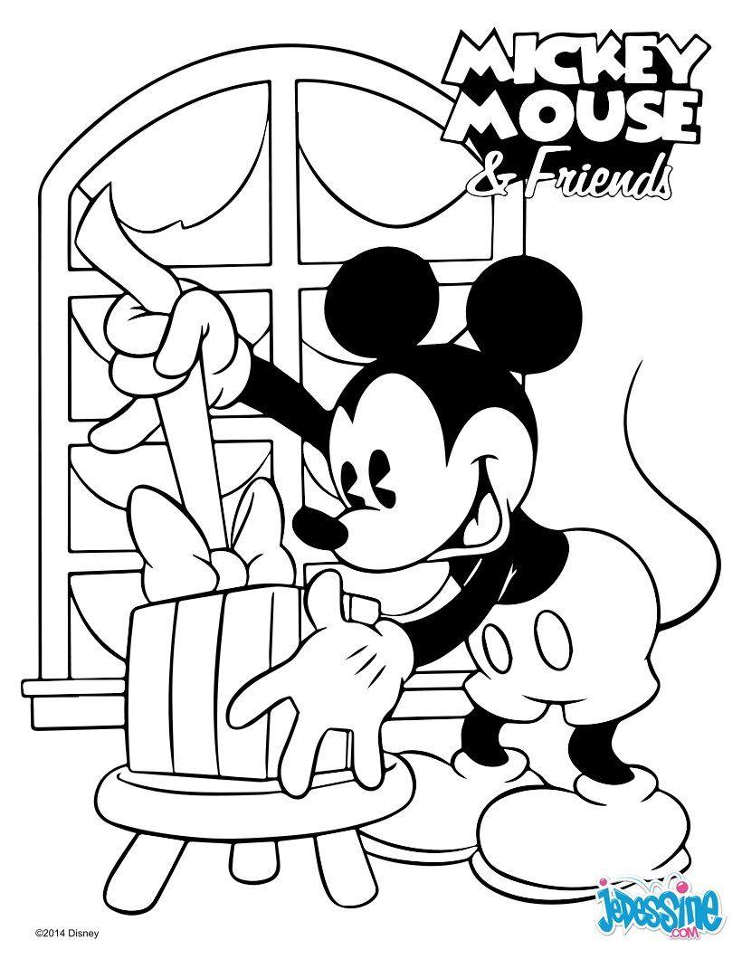 Un Joli Coloriage De Mickey Et Ses Amis. Viens Colorier tout Dessin De Mickey Et Ses Amis A Imprimer