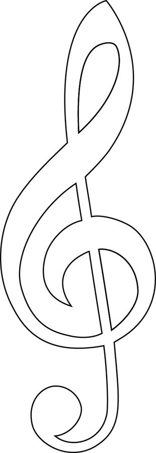Une Clef De Sol À Imprimer - Dory.fr Coloriages à Note De Musique A Colorier
