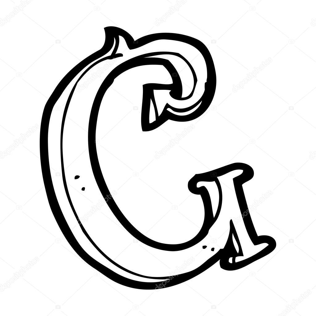 Vecteur, Lettre De Bande Dessinée Sur Fond Blanc — Image à Image Lettre C