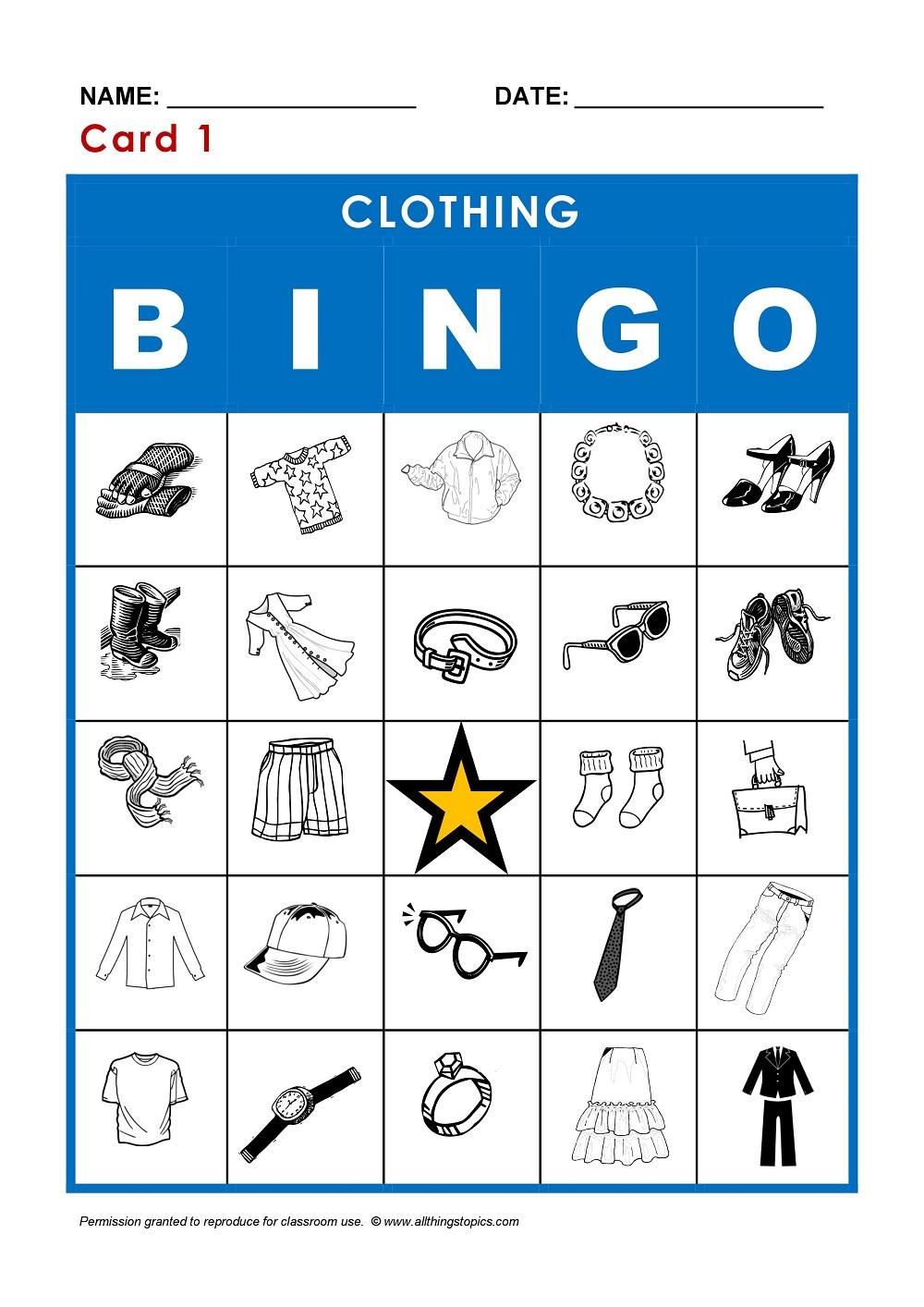 Vêtements En Anglais - My-Teacher.fr : Apprendre L'Anglais avec Jeux En Anglais A Imprimer