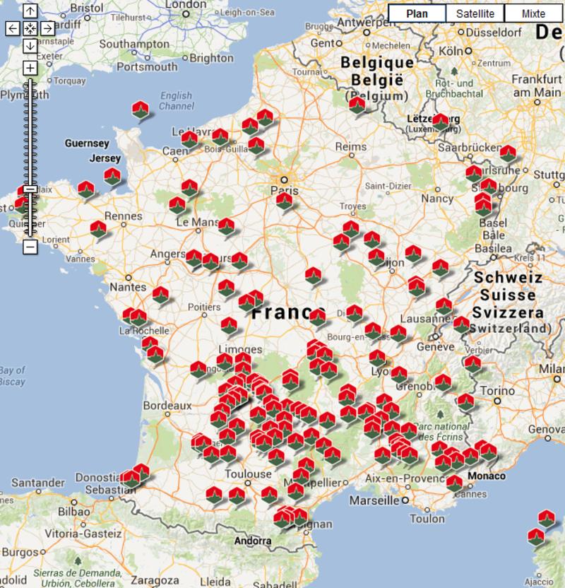 Vous Avez Cherché Carte Les Plus Beaux Villages De France destiné Acheter Carte De France